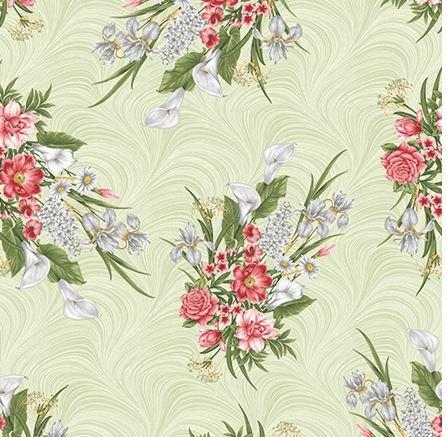 06782-40 Benartex Magnificent Blooms Sage