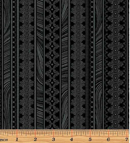 06786-12 Benartex Magnificent Blooms Black