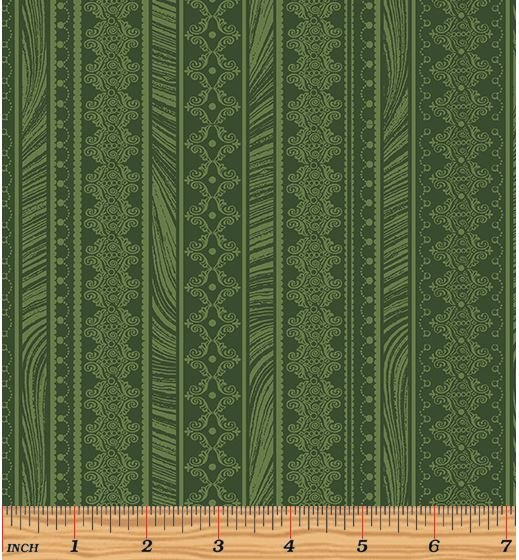 06786-44 Benartex Magnificent Blooms Green