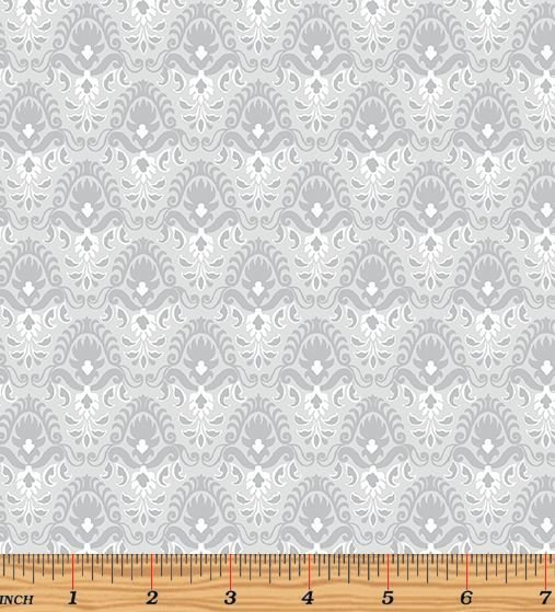 06787-08 Benartex Magnificent Blooms Light Grey