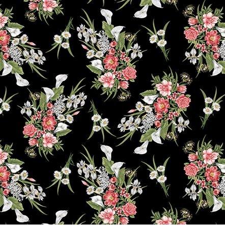 06788-13 Benartex Magnificent Blooms Bouquet