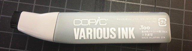 100R COPIC Fabric Marker Refill Black