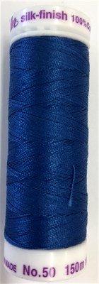 9105-0697 105-885 Mettler Silk Finished Cotton Thread 164 yards Snorkel Blue