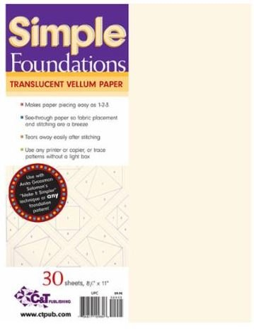 10984 Simple Foundations  Translucent Vellum Paper 30 sheets