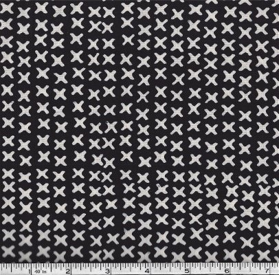 120-163-ZEBRA Hoffman of California Batiks Black & White
