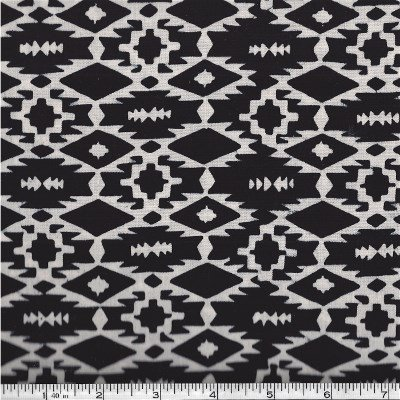 121-163-ZEBRA Hoffma of California Batik Black & White