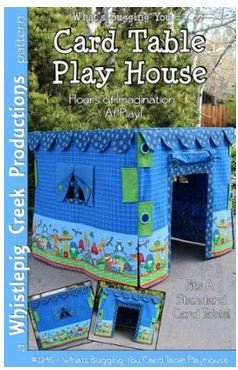 1245 Whistlepig Creek Designs Card Table Play House