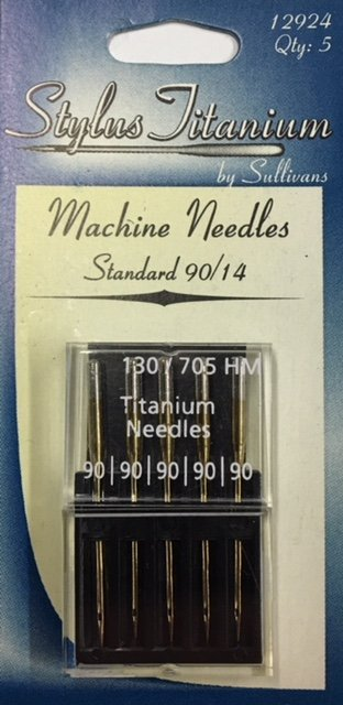 12924 Sullivan's Stylus Titanium Machine Needle 5 pack 90/14