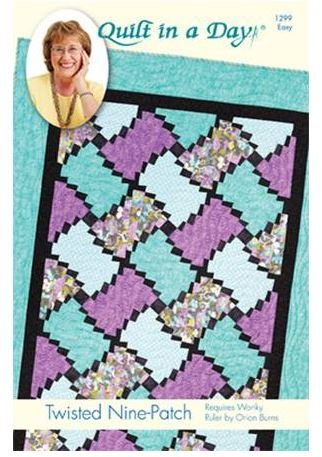 1299QD Quilt In A Day Eleanor Burns Twitsted Nine Patch