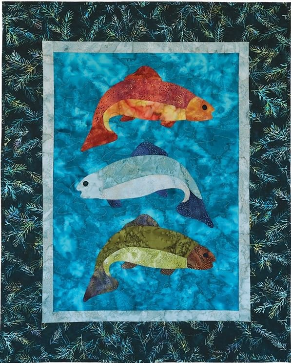 1305-RKIT McKenna Ryan Fish Tales Wall Hanging 26½ x 33