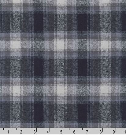 13933-12 Robert Kaufman Flannel Mammoth Plaid Grey