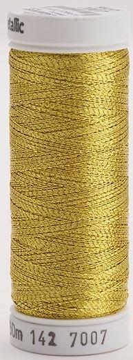 142-7007 Sulky Metallic 40% Poly Metal 50% Nylon Core 10% Metallic Fiber 165 yrds Metallic Gold