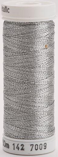 142-7009 Sulky Metallic 40% Poly Metal 50% Nylon Core 10% Metallic Fiber 165 yrds Metallic Pewter