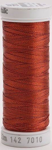 142-7010 Sulky Metallic 40% Poly Metal 50% Nylon Core 10% Metallic Fiber 165 yrds Metallic Dark Copper