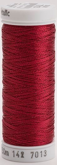 142-7013 Sulky Metallic 40% Poly Metal 50% Nylon Core 10% Metallic Fiber 165 yrds Metallic Rose