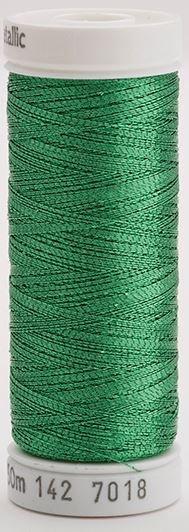 142-7018 Sulky Metallic 40% Poly Metal 50% Nylon Core 10% Metallic Fiber 165 yrds Metallic Christmas Green