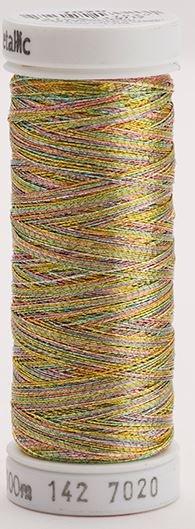142-7020 Sulky Metallic 40% Poly Metal 50% Nylon Core 10% Metallic Fiber 140 yrds Metallic Multi-Color