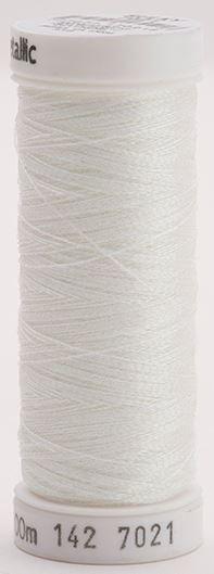 142-7021 Sulky Metallic 40% Poly Metal 50% Nylon Core 10% Metallic Fiber 110 yrds Metallic Prism White