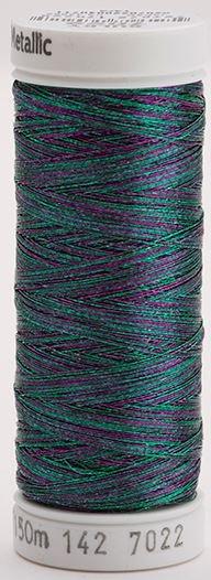 142-7022 Sulky Metallic 40% Poly Metal 50% Nylon Core 10% Metallic Fiber 165 yrds Metallic Multi-Color