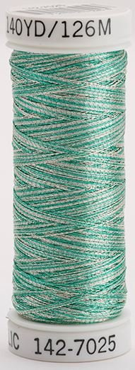 142-7025 Sulky Metallic 40% Poly Metal 50% Nylon Core 10% Metallic Fiber 140 yrds Metallic Multi-Color