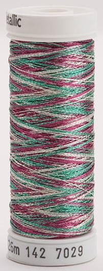 142-7029 Sulky Metallic 40% Poly Metal 50% Nylon Core 10% Metallic Fiber 140 yrds Metallic Multi-Color