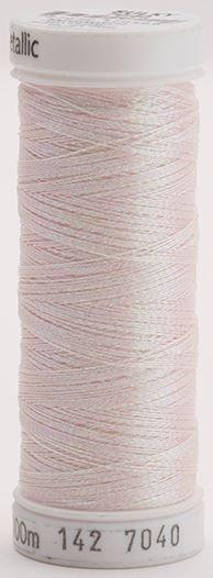 142-7040 Sulky Metallic 40% Poly Metal 50% Nylon Core 10% Metallic Fiber 110 yrds Metallic Prism Pink