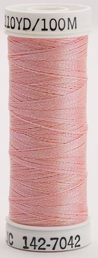 142-7042 Sulky Metallic 40% Poly Metal 50% Nylon Core 10% Metallic Fiber 110 yrds Metallic Prism Peach