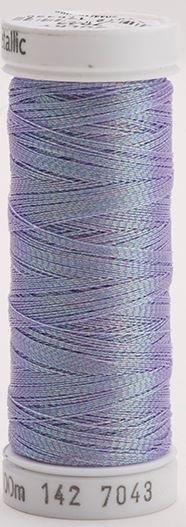142-7043 Sulky Metallic 40% Poly Metal 50% Nylon Core 10%Metallic Fiber 110 yrds Metallic Prism Purple