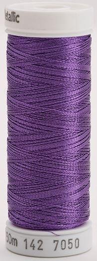 142-7050 Sulky Metallic 40% Poly Metal 50% Nylon Core 10% Metallic Fiber 165 yrds Metallic Purple