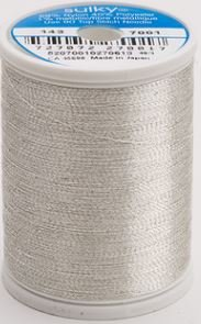 143-7001 Sulky Metallic 40% Poly 59% Nylon Core 1% Metallic Fiber 1000 yrds Silver