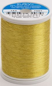 143-7007 Sulky Metallic 40% Poly 59% Nylon Core 1% Metallic Fiber 1000 yrds Gold