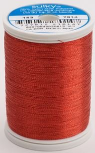 143-7014 Sulky Metallic 40% Poly 59% Nylon Core 1% Metallic Fiber 1000 yrds Christmas Red
