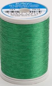 143-7018 Sulky Metallic 40% Poly 59% Nylon Core 1% Metallic Fiber 1000 yrds Christmas Green