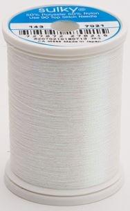 143-7021 Sulky Metallic 40% Poly 59% Nylon Core 1% Metallic Fiber 1000 yrds Prism White