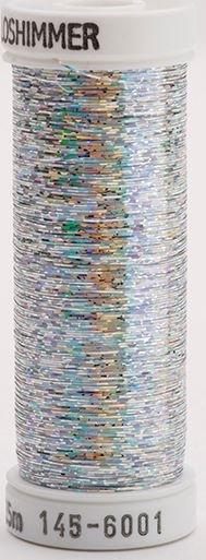 145-6001 Sulky Metallique 60% Poly 40% Polyethylene 250 yrds Holoshimmer Silver