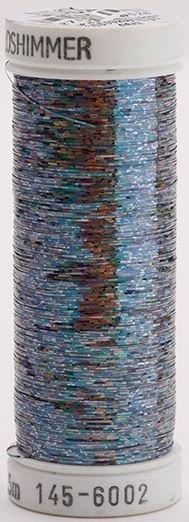 145-6002 Sulky Metallique 60% Poly 40% Polyethylene 250 yrds Holoshimmer Dark Pewter