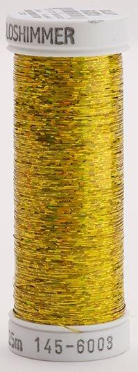 145-6003 Sulky Metallique 60% Poly 40% Polyethylene 250 yrds Holoshimmer Light Gold