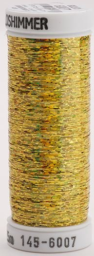 145-6007 Sulky Metallique 60% Poly 40% Polyethylene 250 yrds Holoshimmer Gold