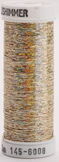 145-6008 Sulky Metallique 60% Poly 40% Polyethylene 250 yrds Holoshimmer Yellow Gold