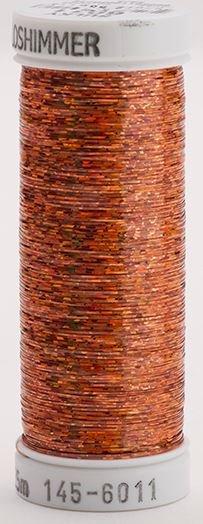 145-6011 Sulky Metallique 60% Poly 40% Polyethylene 250 yrds Holoshimmer Light Copper