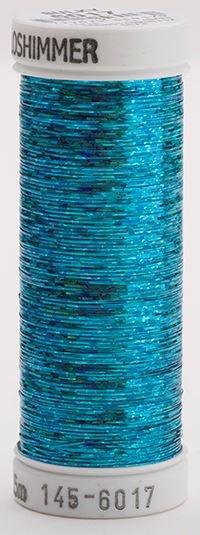 145-6017 Sulky Metallique 60% Poly 40% Polyethylene 250 yrds Holoshimmer Peacock Blue