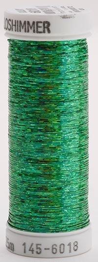 145-6018 Sulky Metallique 60% Poly 40% Polyethylene 250 yrds Holoshimmer Christmas Green