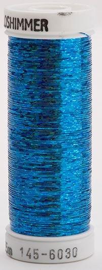 145-6030 Sulky Metallique 60% Poly 40% Polyethylene 250 yrds Holoshimmer Light Blue