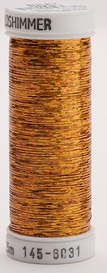 145-6031 Sulky Metallique 60% Poly 40% Polyethylene 250 yrds Holoshimmer Orange