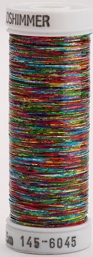 145-6045 Sulky Metallique 60% Poly 40% Polyethylene 250 yrds Holoshimmer Multi-Color Dark