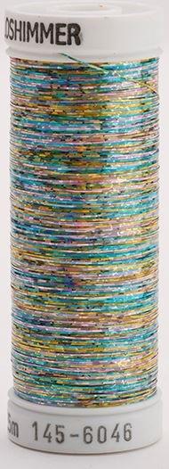 145-6046 Sulky Metallique 60% Poly 40% Polyethylene 250 yrds Holoshimmer Multi-Color Light