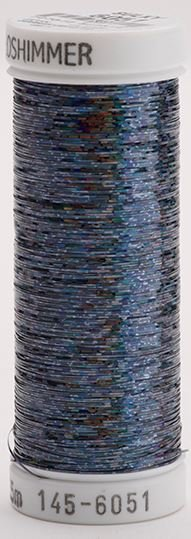145-6051 Sulky Metallique 60% Poly 40% Polyethylene 250 yrds Holoshimmer Arctic Black