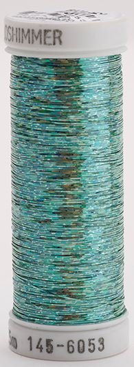 145-6053 Sulky Metallique 60% Poly 40% Polyethylene 250 yrds Holoshimmer Mint Green