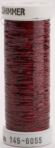 145-6055 Sulky Metallique 60% Poly 40% Polyethylene 250 yrds Holoshimmer Cranberry