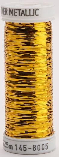 145-8005 Sulky Metallique 60% Poly 40% Polyethylene 250 yrds Sliver Brass Gold